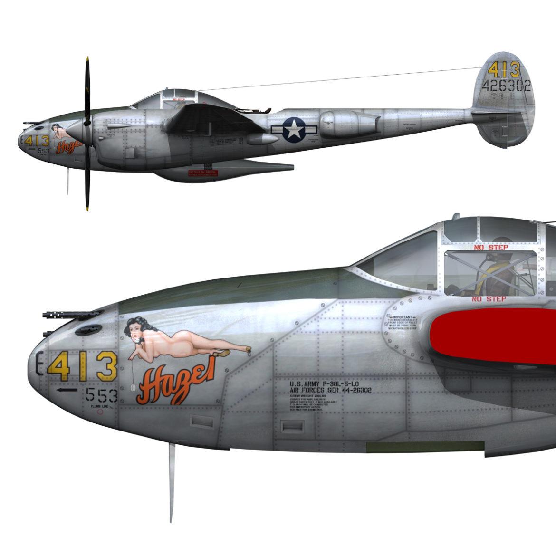 lockheed p-38 lightning – hazel 3d model fbx c4d lwo obj 295746