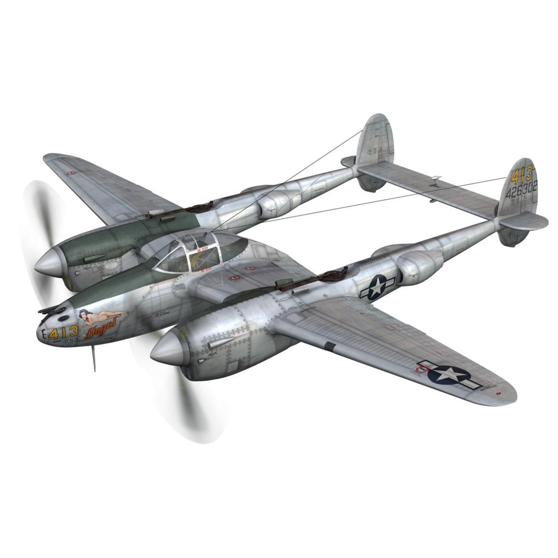 lockheed p-38 lightning – hazel 3d model fbx c4d lwo obj 295747