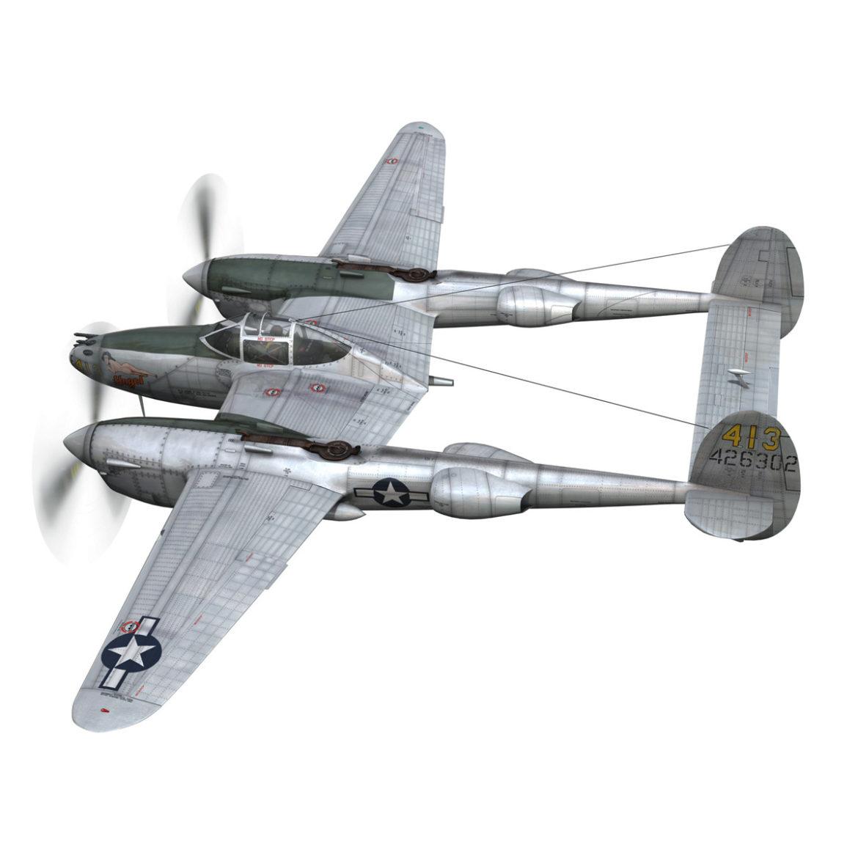 lockheed p-38 lightning – hazel 3d model fbx c4d lwo obj 295748