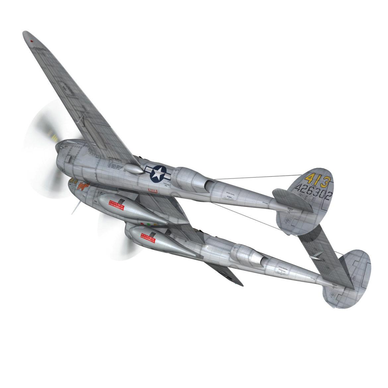 lockheed p-38 lightning – hazel 3d model fbx c4d lwo obj 295749