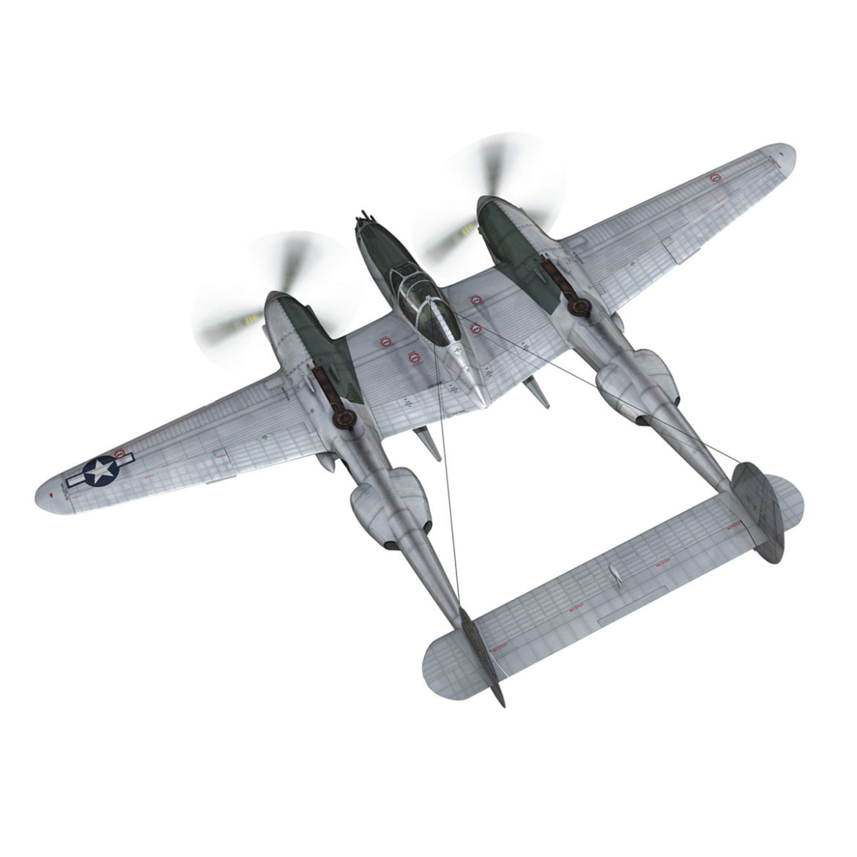 lockheed p-38 lightning – hazel 3d model fbx c4d lwo obj 295750