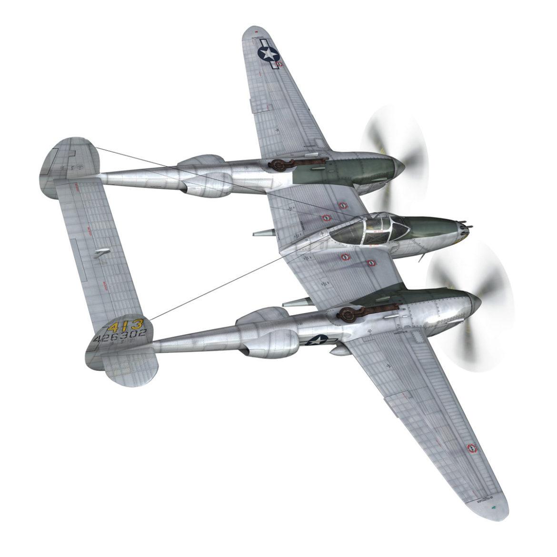 lockheed p-38 lightning – hazel 3d model fbx c4d lwo obj 295751