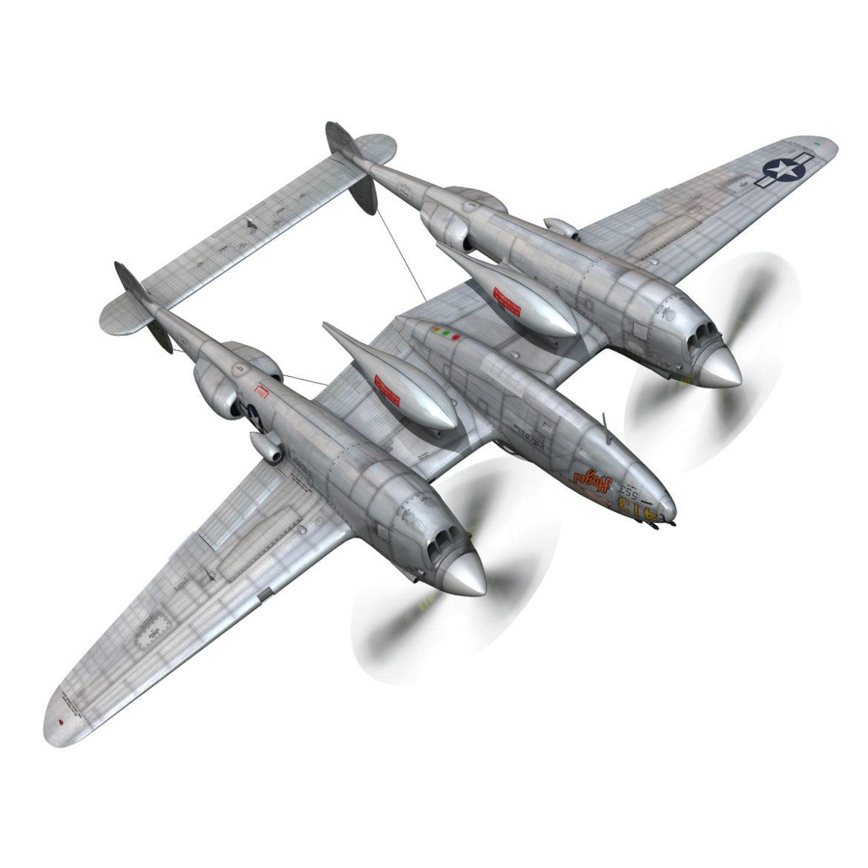 lockheed p-38 lightning – hazel 3d model fbx c4d lwo obj 295752