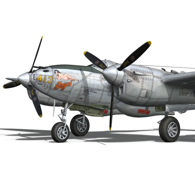 lockheed p-38 lightning – hazel 3d model fbx c4d lwo obj 295754