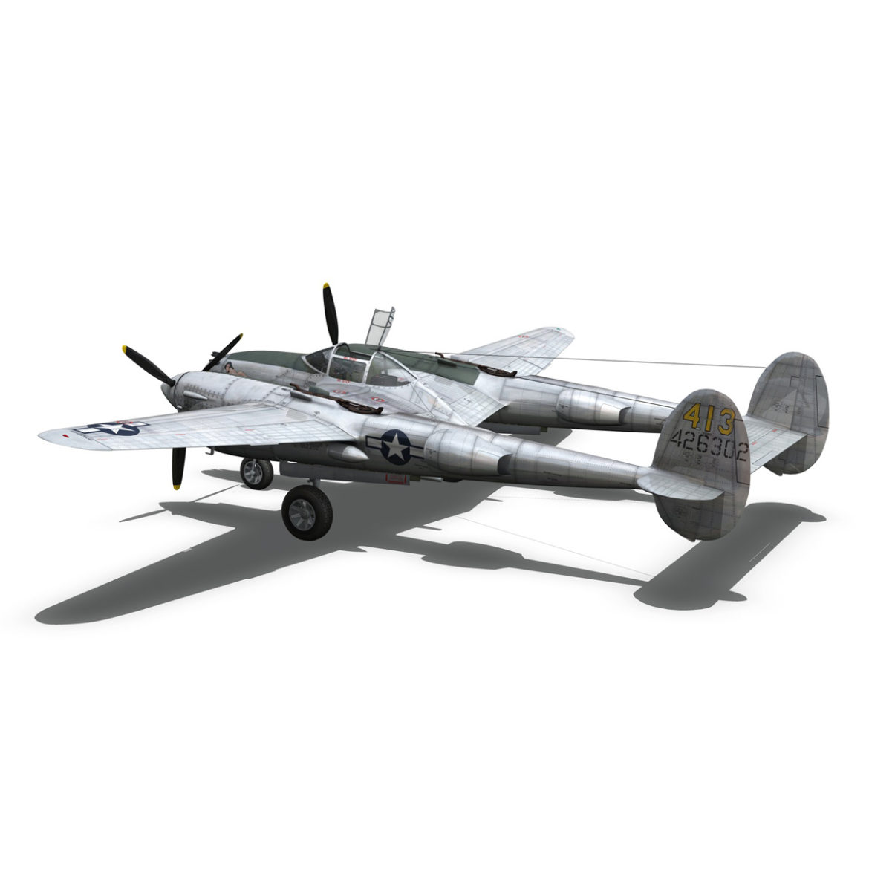 lockheed p-38 lightning – hazel 3d model fbx c4d lwo obj 295756
