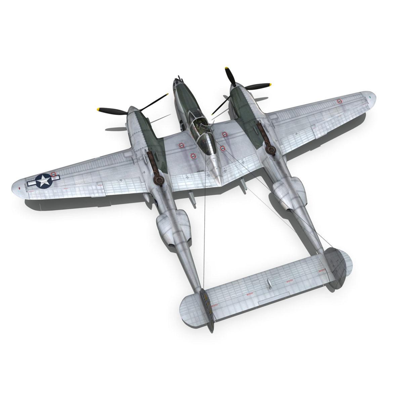 lockheed p-38 lightning – hazel 3d model fbx c4d lwo obj 295757
