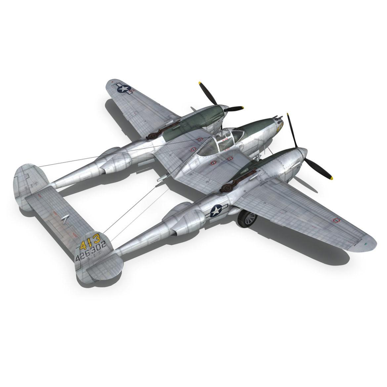 lockheed p-38 lightning – hazel 3d model fbx c4d lwo obj 295758