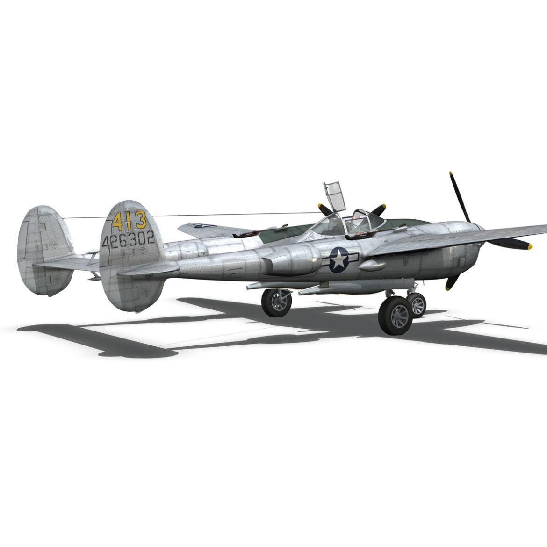 lockheed p-38 lightning – hazel 3d model fbx c4d lwo obj 295759