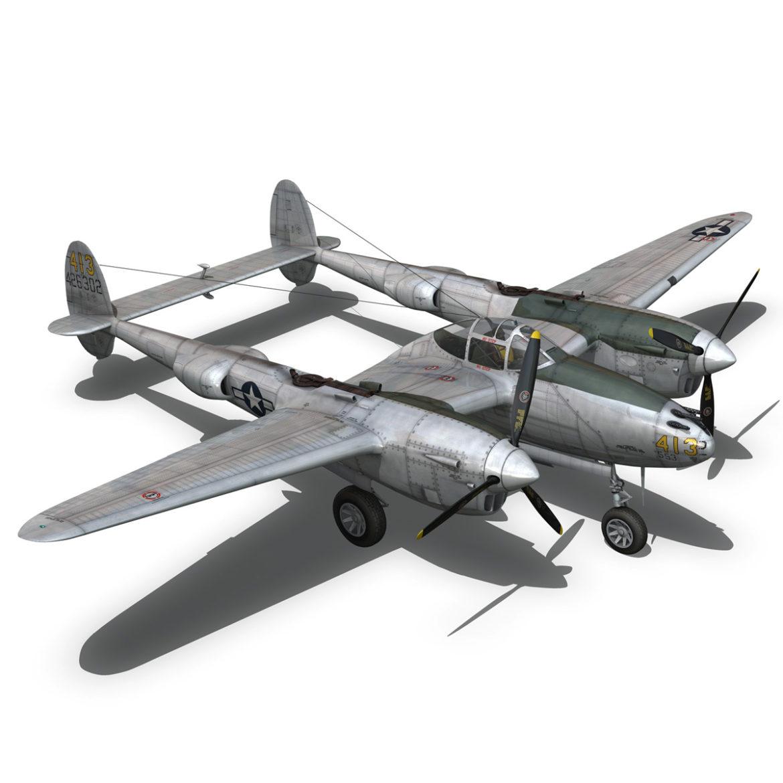 lockheed p-38 lightning – hazel 3d model fbx c4d lwo obj 295760