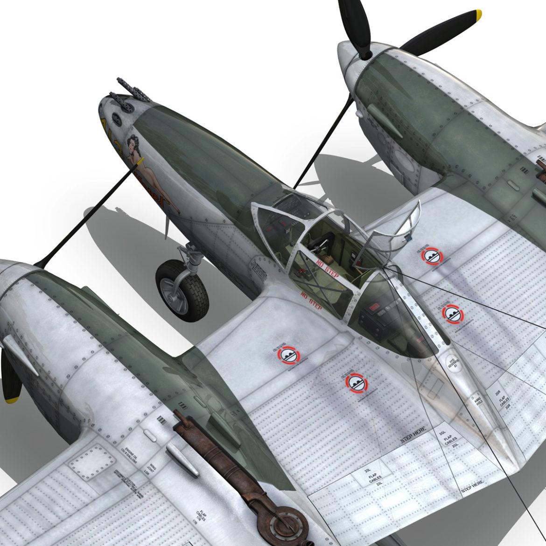 lockheed p-38 lightning – hazel 3d model fbx c4d lwo obj 295761