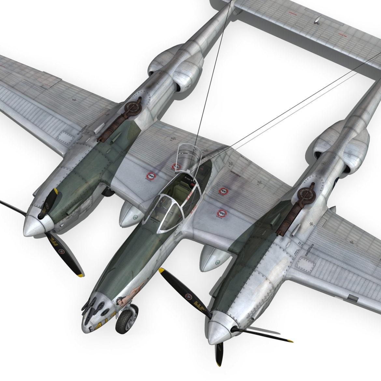 lockheed p-38 lightning – hazel 3d model fbx c4d lwo obj 295762
