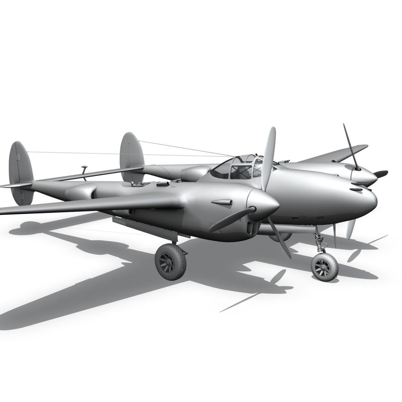 lockheed p-38 lightning – hazel 3d model fbx c4d lwo obj 295763