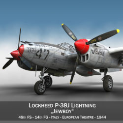 lockheed p-38 lightning – jewboy 3d model fbx c4d lwo obj 295771