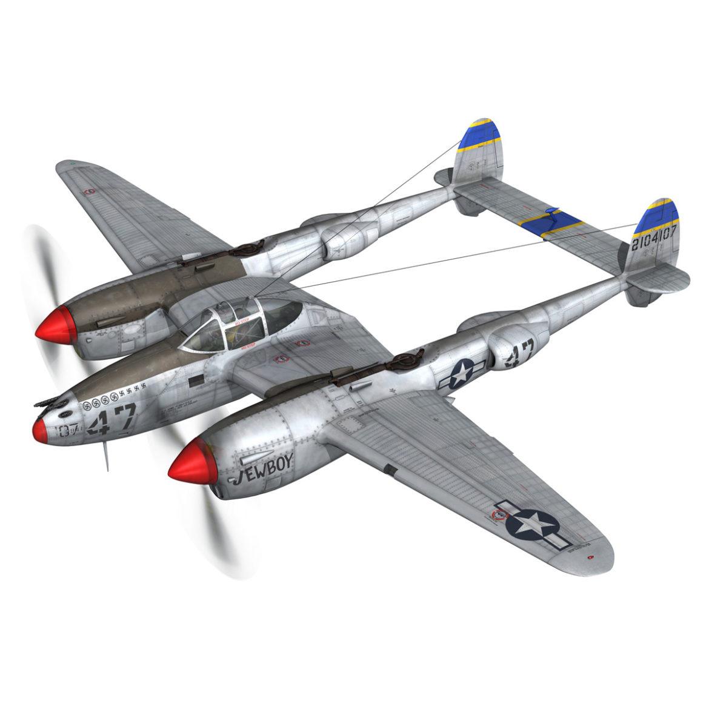 lockheed p-38 lightning – jewboy 3d model fbx c4d lwo obj 295772
