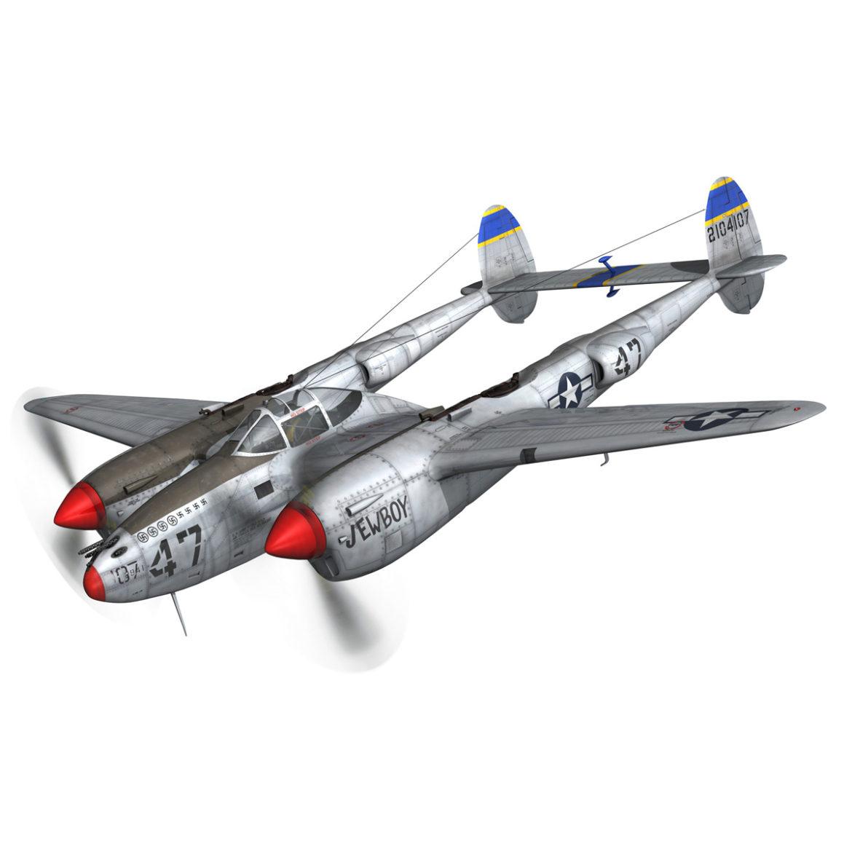 lockheed p-38 lightning – jewboy 3d model fbx c4d lwo obj 295773