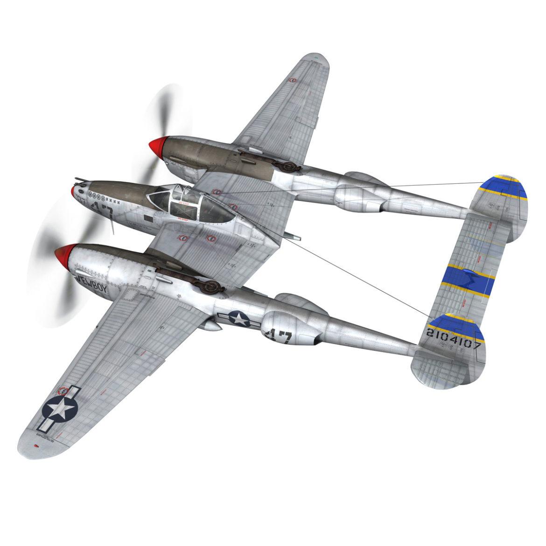 lockheed p-38 lightning – jewboy 3d model fbx c4d lwo obj 295774