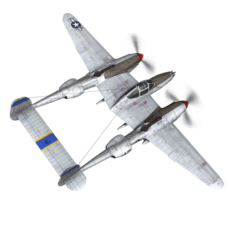 lockheed p-38 lightning – jewboy 3d model fbx c4d lwo obj 295775