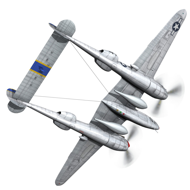 lockheed p-38 lightning – jewboy 3d model fbx c4d lwo obj 295776
