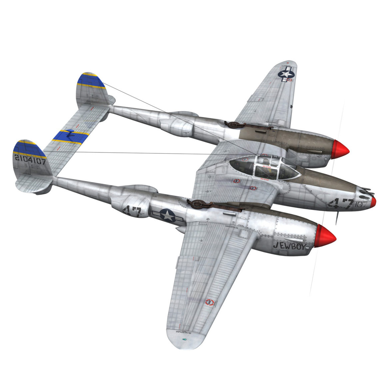 lockheed p-38 lightning – jewboy 3d model fbx c4d lwo obj 295777
