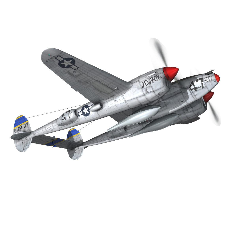 lockheed p-38 lightning – jewboy 3d model fbx c4d lwo obj 295778