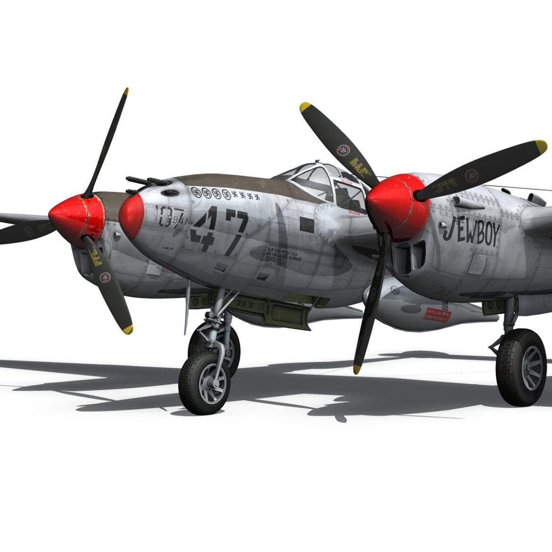 lockheed p-38 lightning – jewboy 3d model fbx c4d lwo obj 295779