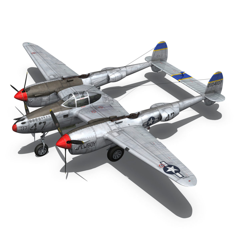 lockheed p-38 lightning – jewboy 3d model fbx c4d lwo obj 295780