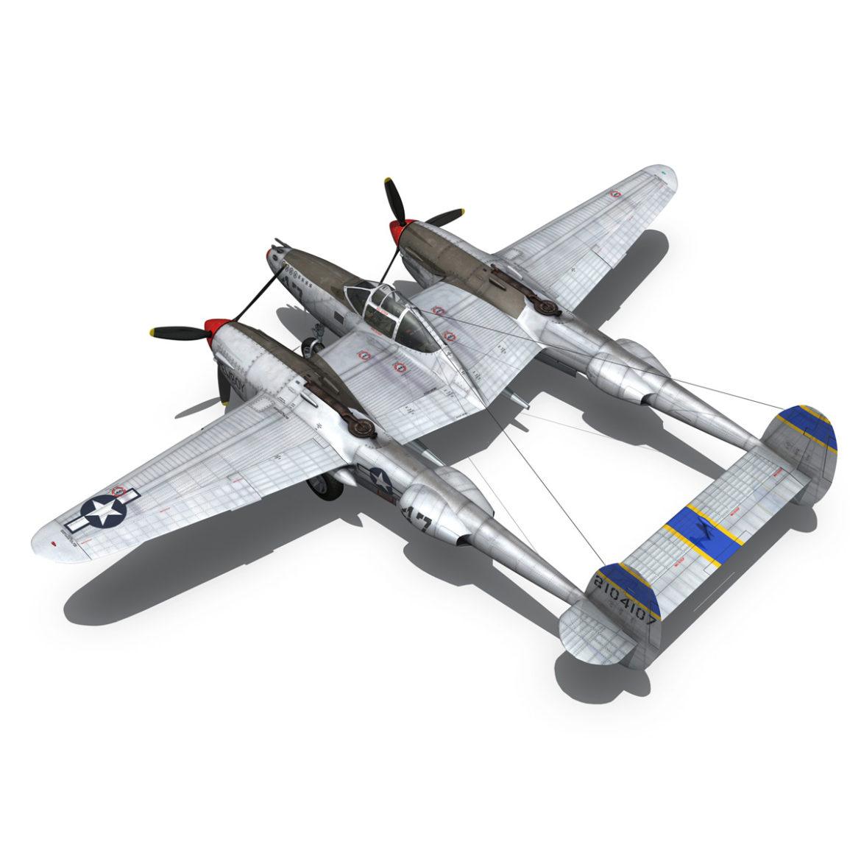 lockheed p-38 lightning – jewboy 3d model fbx c4d lwo obj 295781