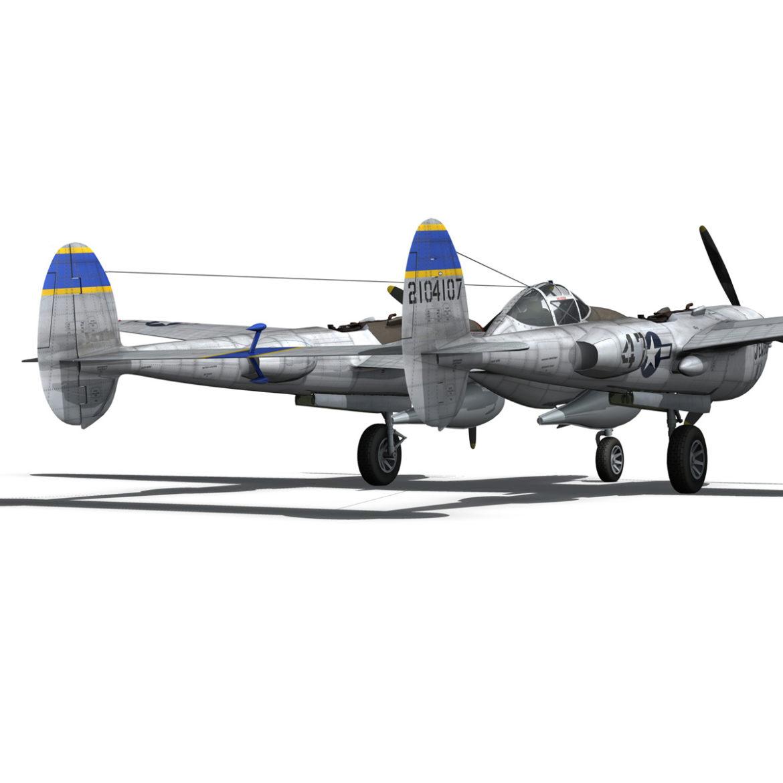 lockheed p-38 lightning – jewboy 3d model fbx c4d lwo obj 295782