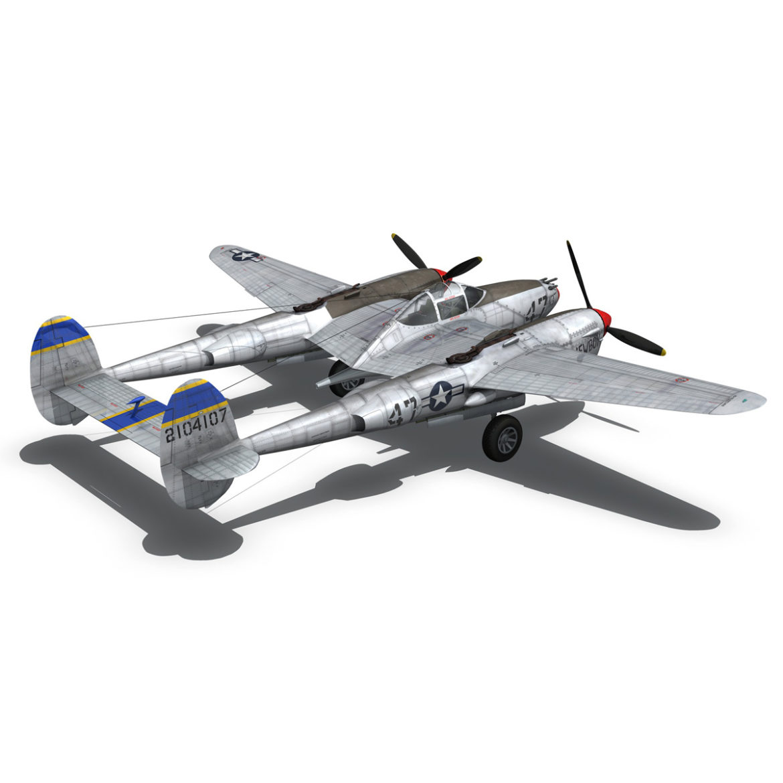 lockheed p-38 lightning – jewboy 3d model fbx c4d lwo obj 295783
