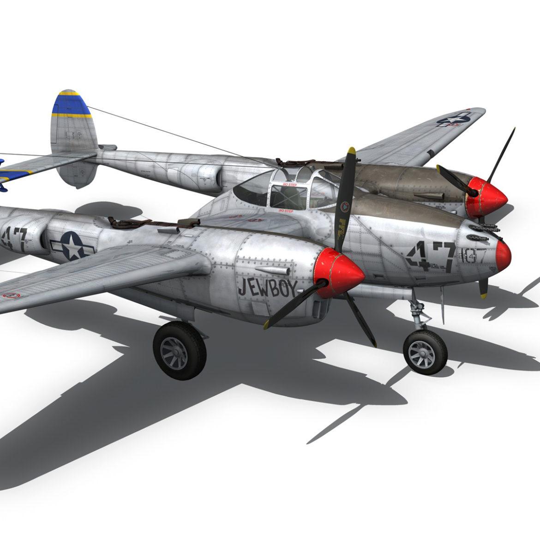 lockheed p-38 lightning – jewboy 3d model fbx c4d lwo obj 295784
