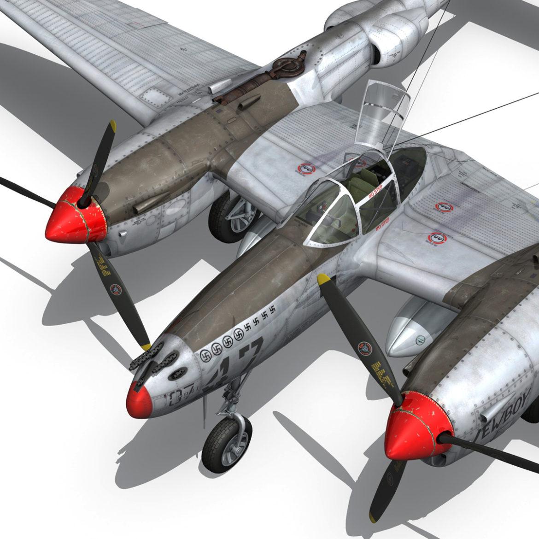 lockheed p-38 lightning – jewboy 3d model fbx c4d lwo obj 295785