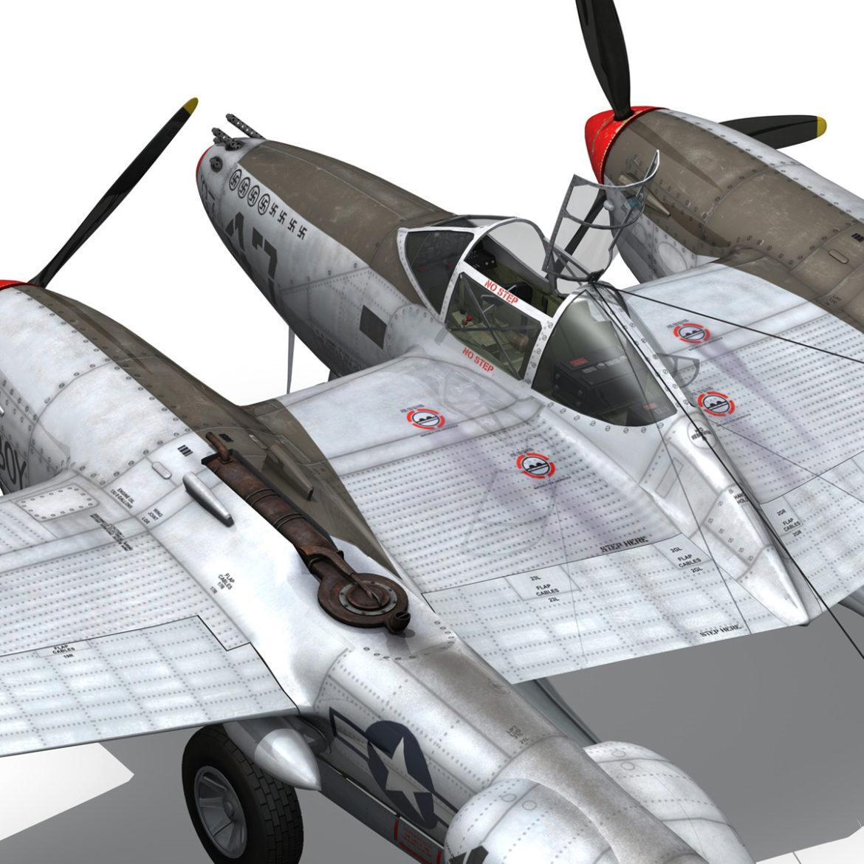 lockheed p-38 lightning – jewboy 3d model fbx c4d lwo obj 295786