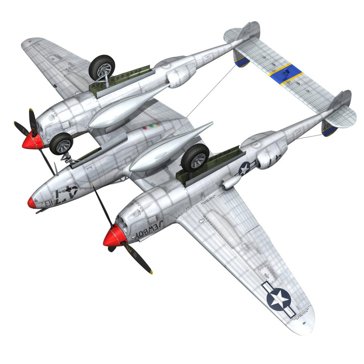 lockheed p-38 lightning – jewboy 3d model fbx c4d lwo obj 295787