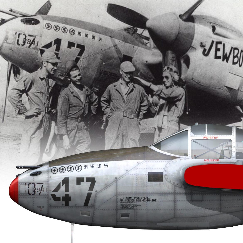 lockheed p-38 lightning – jewboy 3d model fbx c4d lwo obj 295788