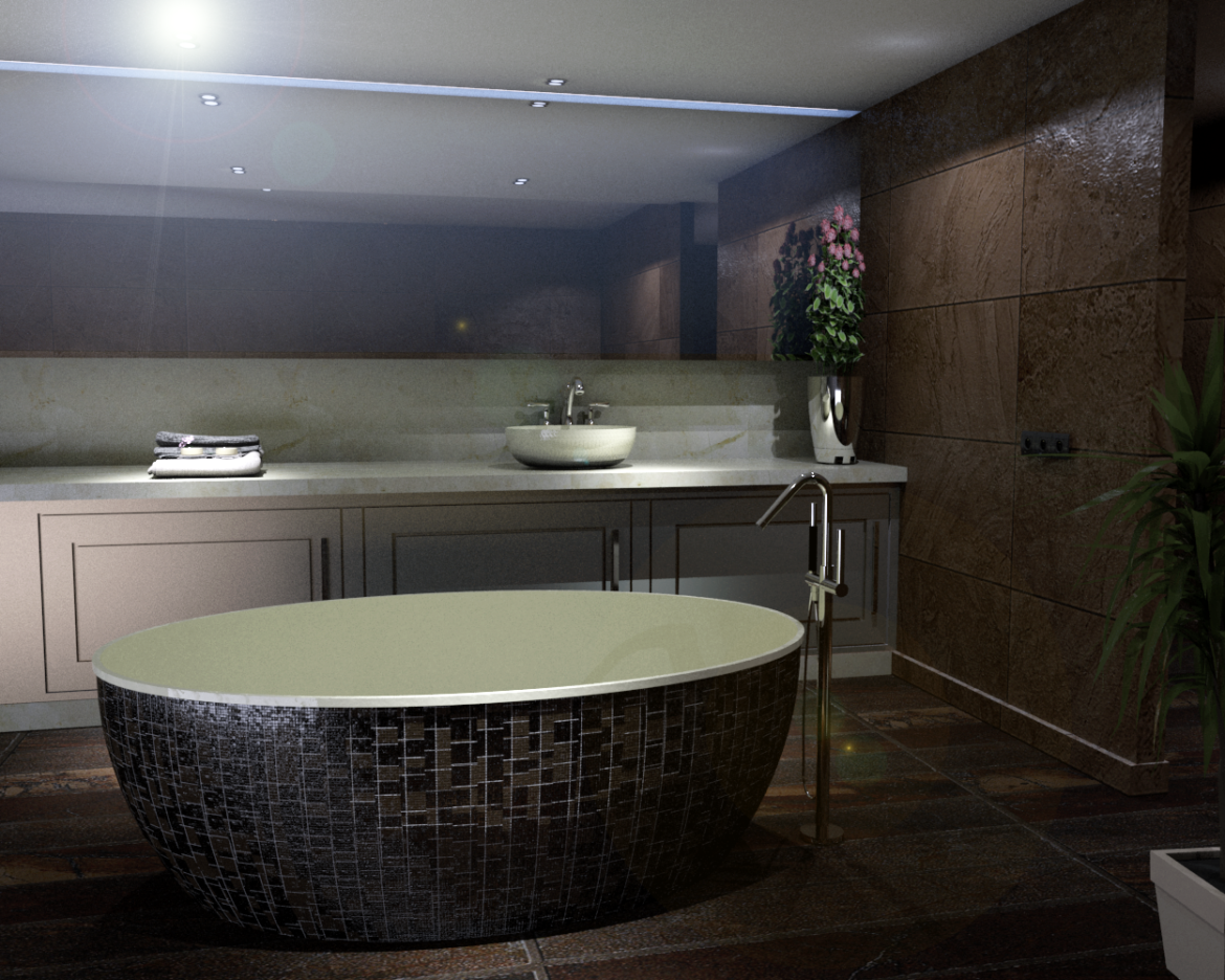 bathroom-13 3d model skp obj 295948