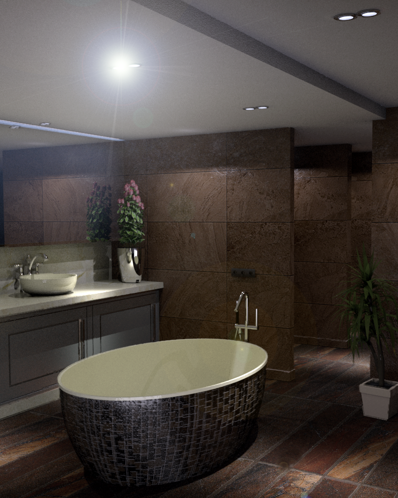 bathroom-13 3d model skp obj 295949