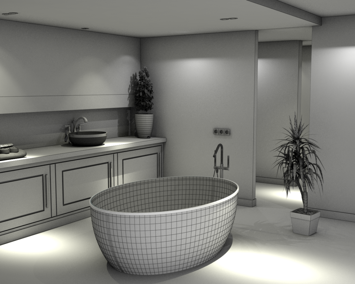 bathroom-13 3d model skp obj 295951