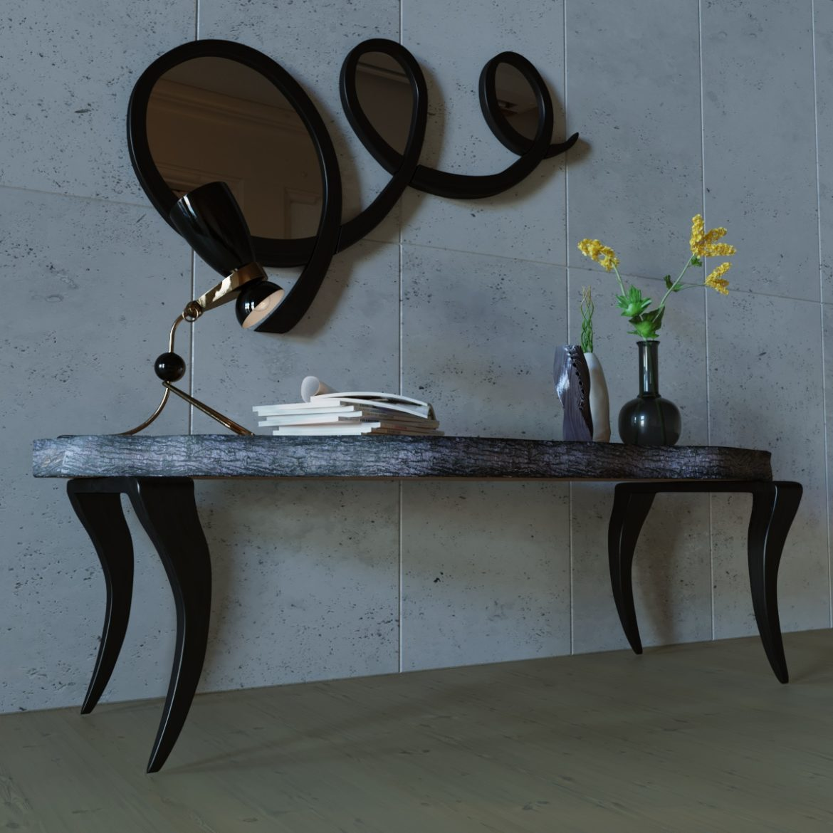 table and mirror-16 3d model max obj 295988