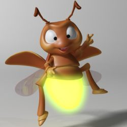 cartoon firefly rigged 3d model 3ds max fbx obj 296066
