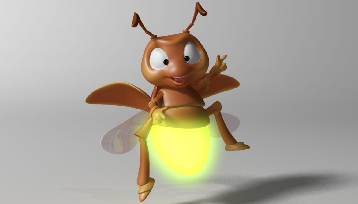cartoon firefly rigged 3d model 3ds max fbx  obj 296067