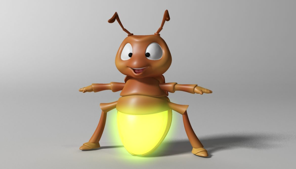 cartoon firefly rigged 3d model 3ds max fbx  obj 296068