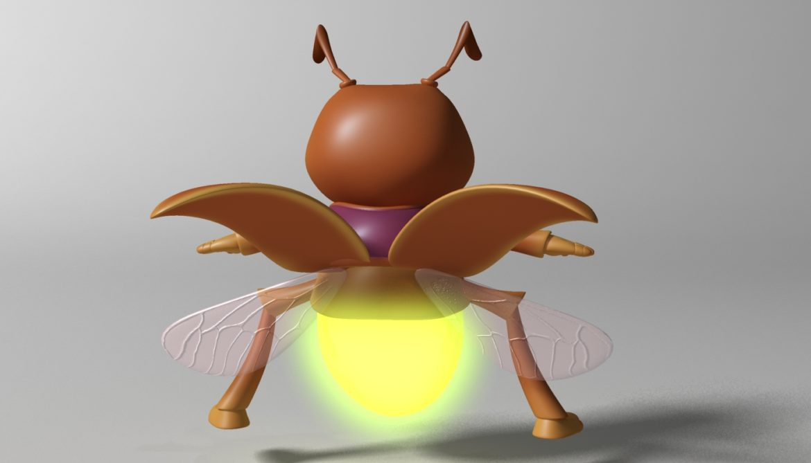 cartoon firefly rigged 3d model 3ds max fbx  obj 296071