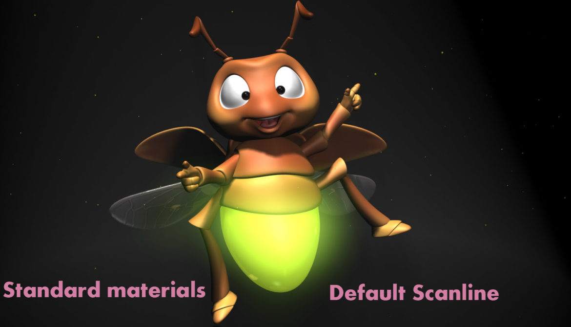 cartoon firefly rigged 3d model 3ds max fbx  obj 296072