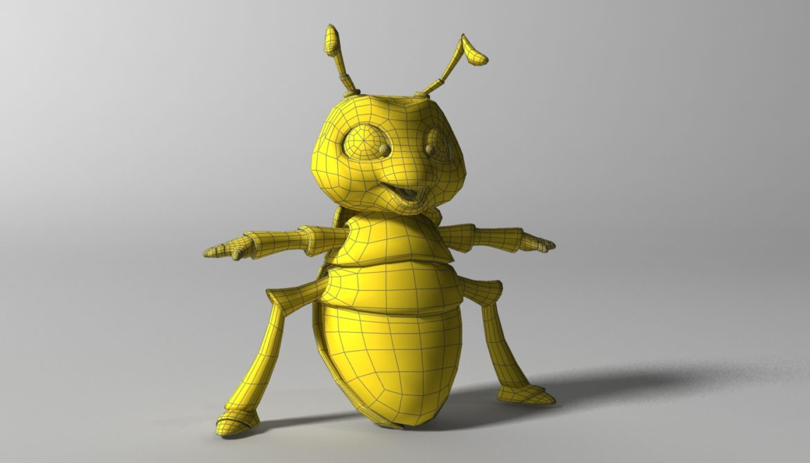 cartoon firefly rigged 3d model 3ds max fbx  obj 296073