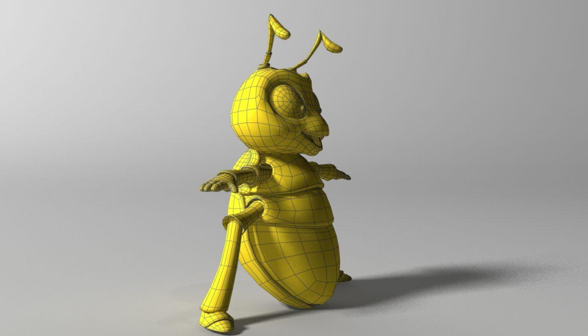 cartoon firefly rigged 3d model 3ds max fbx  obj 296074