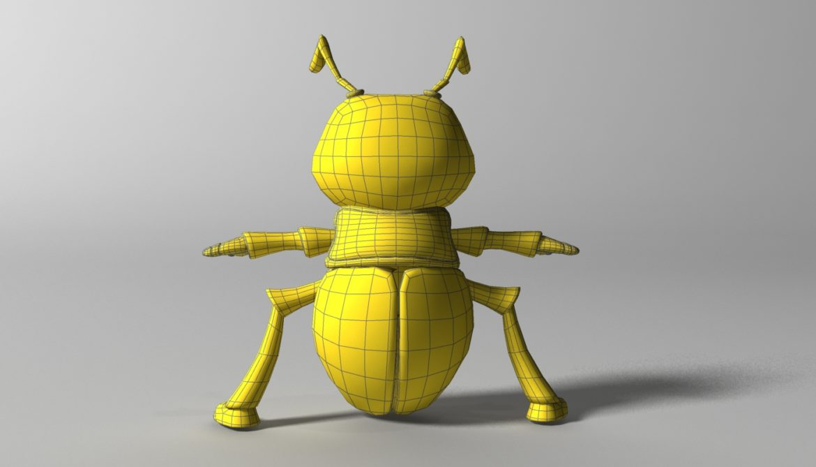 cartoon firefly rigged 3d model 3ds max fbx  obj 296075