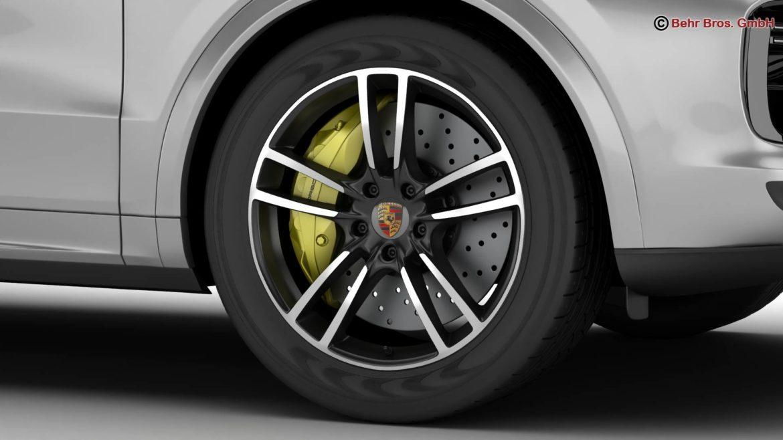 porsche cayenne turbo 2018 3d model 3ds max fbx c4d lwo ma mb obj 296100