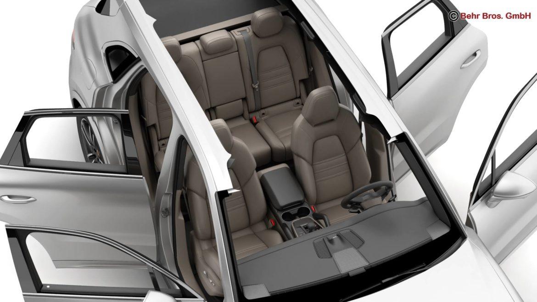 porsche cayenne turbo 2018 3d model 3ds max fbx c4d lwo ma mb obj 296103