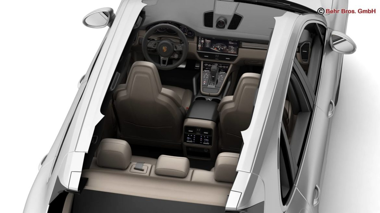 porsche cayenne turbo 2018 3d model 3ds max fbx c4d lwo ma mb obj 296104