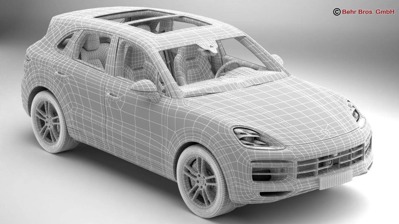 porsche cayenne turbo 2018 3d model 3ds max fbx c4d lwo ma mb obj 296107
